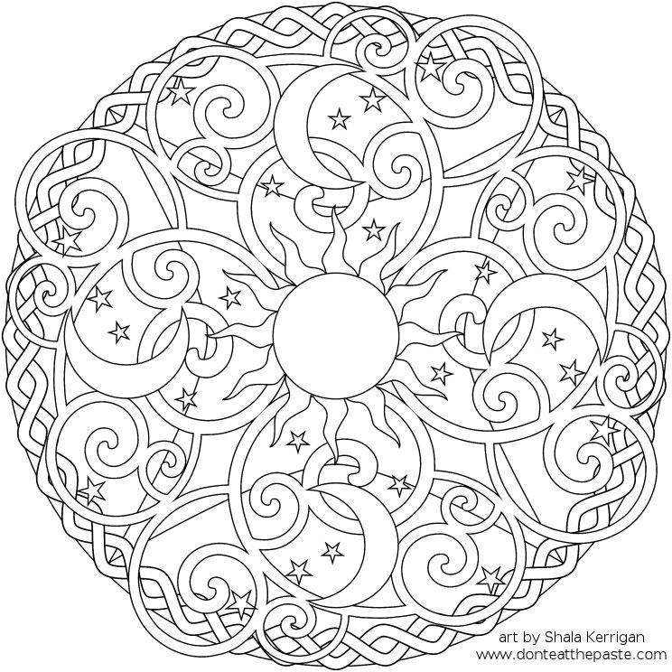 Celestial coloring #20, Download drawings