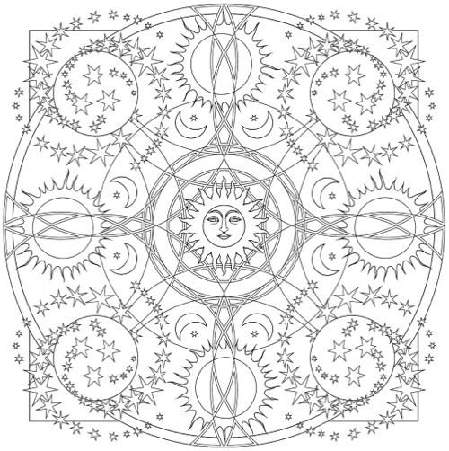 Celestial coloring #17, Download drawings