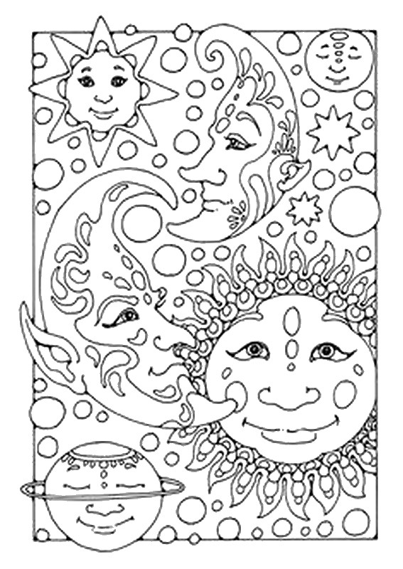 Celestial coloring #3, Download drawings
