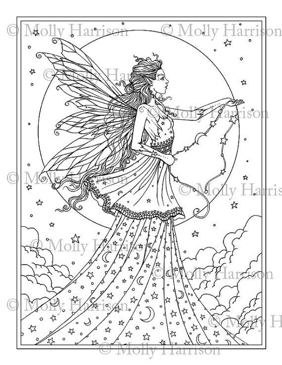 Celestial coloring #5, Download drawings