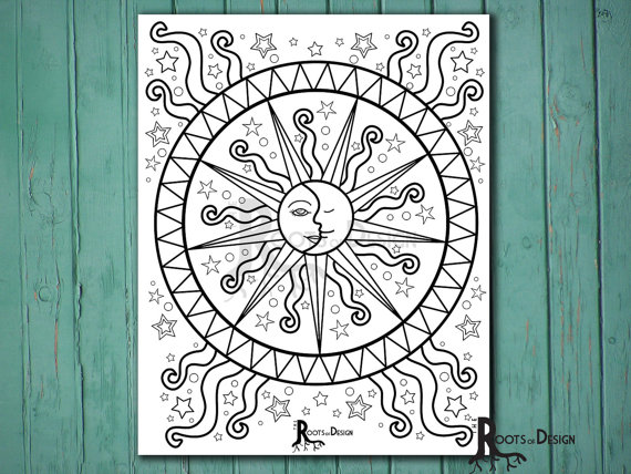 Celestial coloring #7, Download drawings