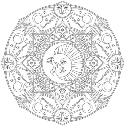 Celestial coloring #19, Download drawings