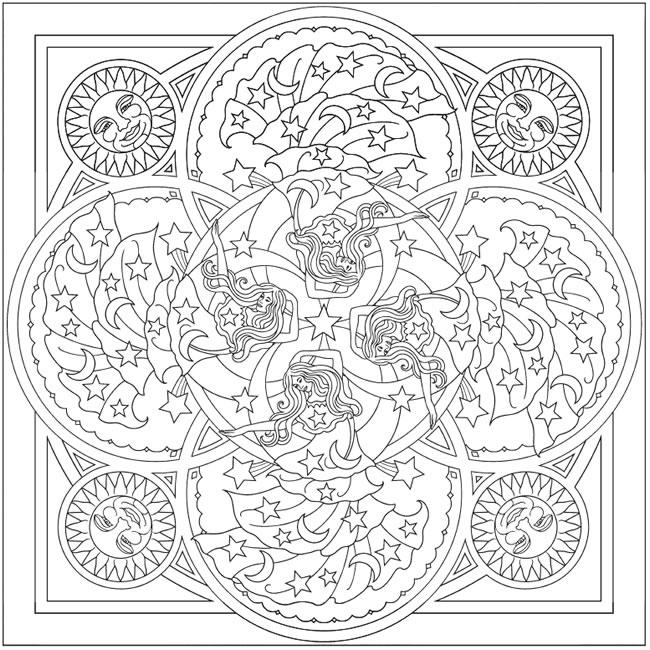 Celestial coloring #16, Download drawings