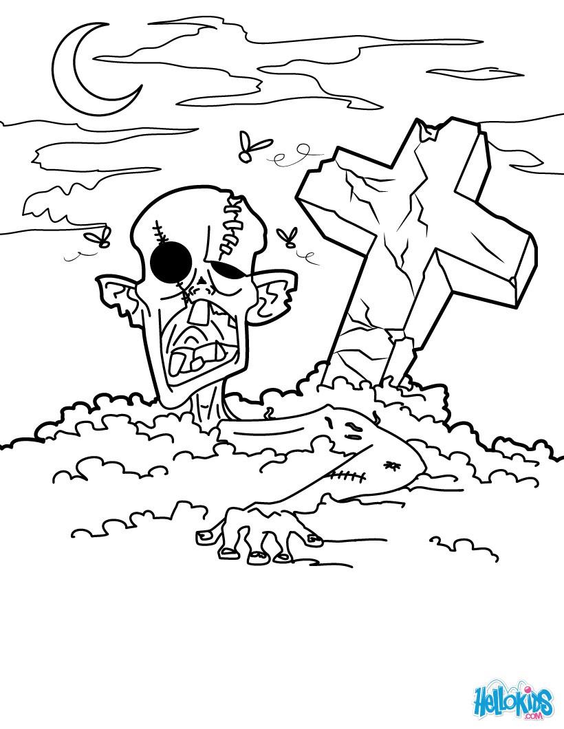 Graveyard coloring #17, Download drawings