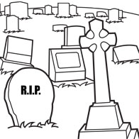 Cemetery coloring #19, Download drawings