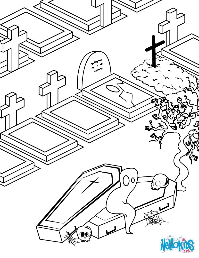 Cemetery coloring #18, Download drawings