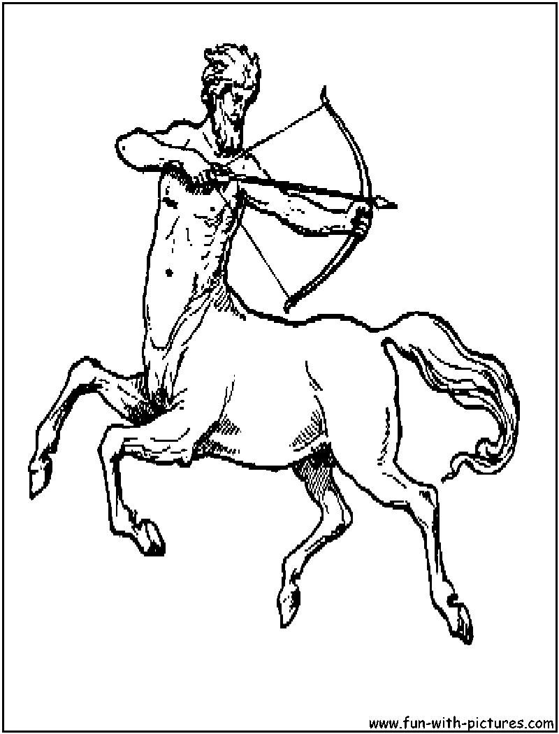 Centaur coloring #7, Download drawings