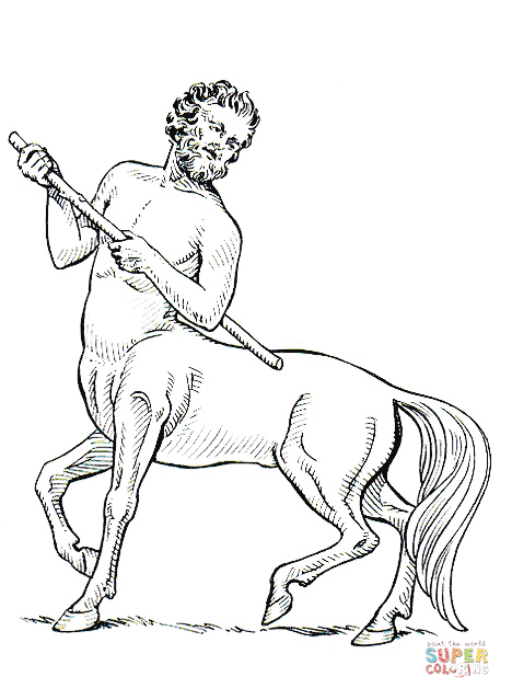 Centaur coloring #16, Download drawings