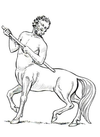 Centaur coloring #13, Download drawings