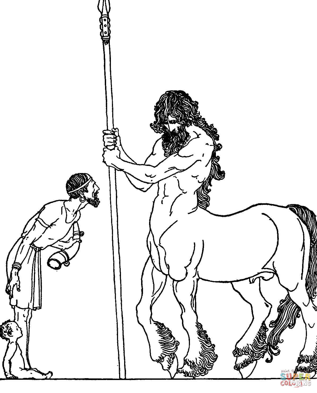Centaur coloring #9, Download drawings