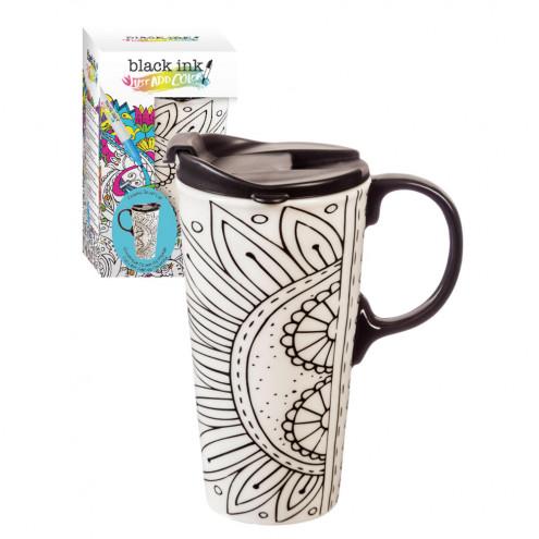 Travel Mug Coloring Ceramic