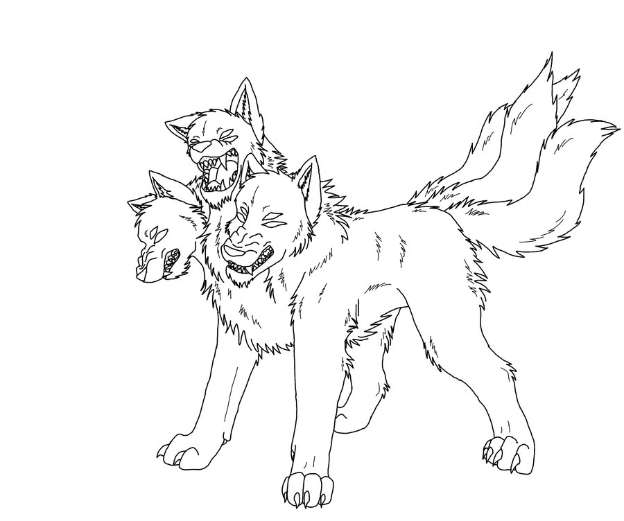 three headed beast coloring pages - photo#11