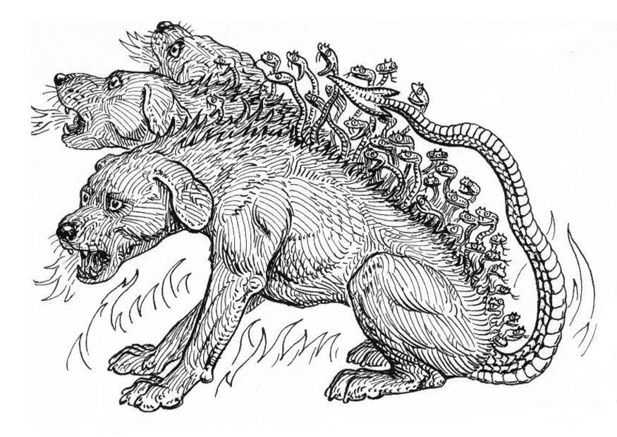 Cerberus coloring #3, Download drawings
