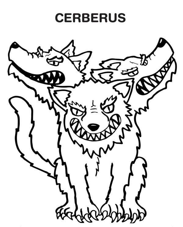 Cerberus coloring #18, Download drawings