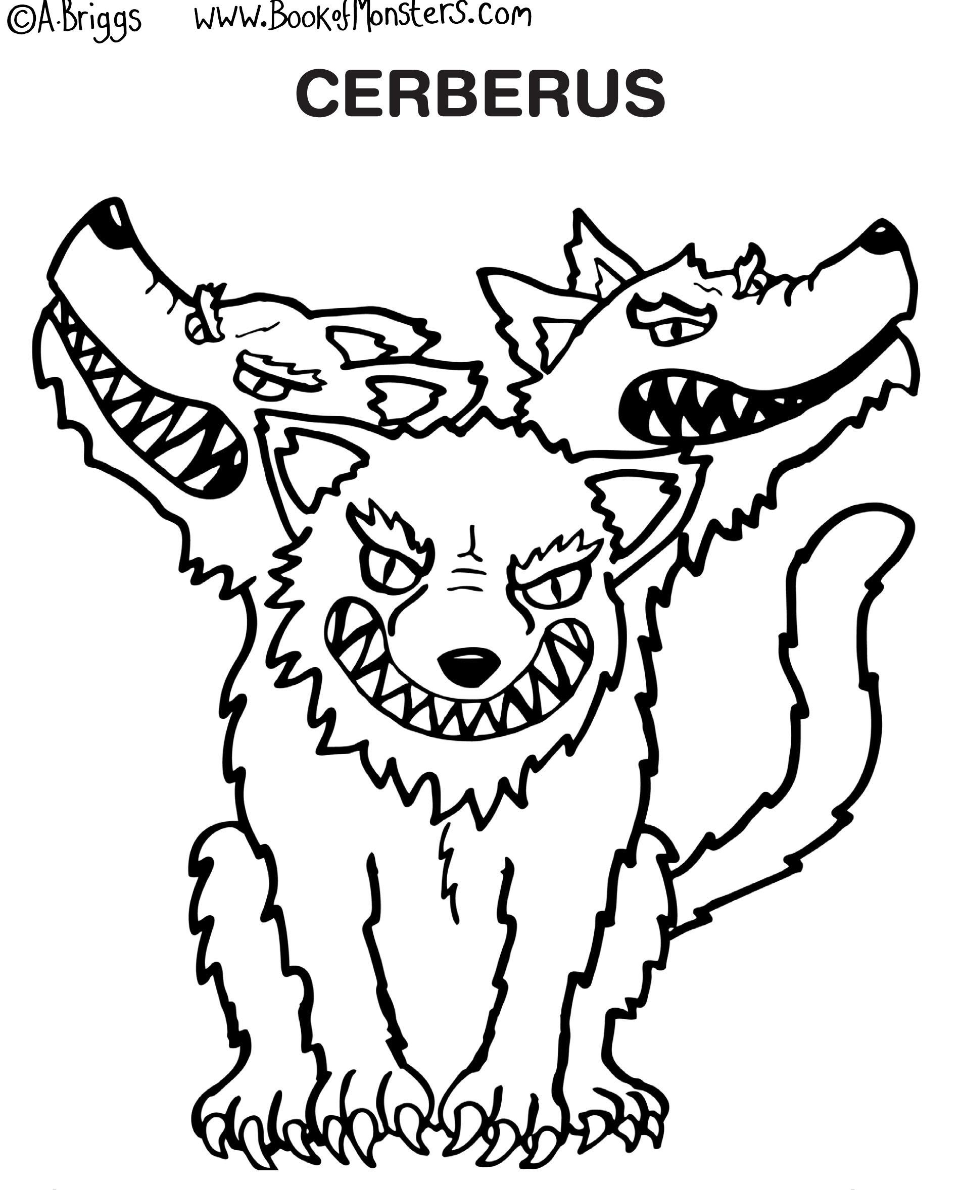 Cerberus coloring #5, Download drawings