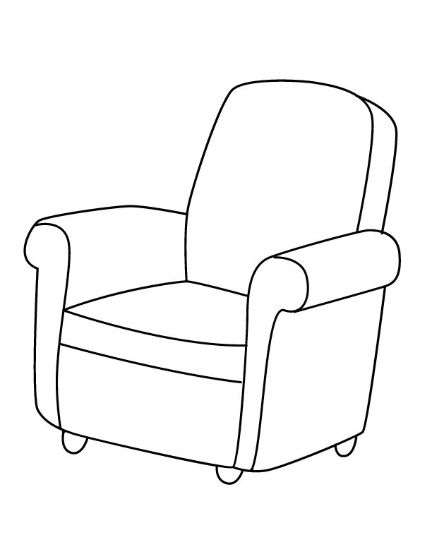 Chair coloring #5, Download drawings