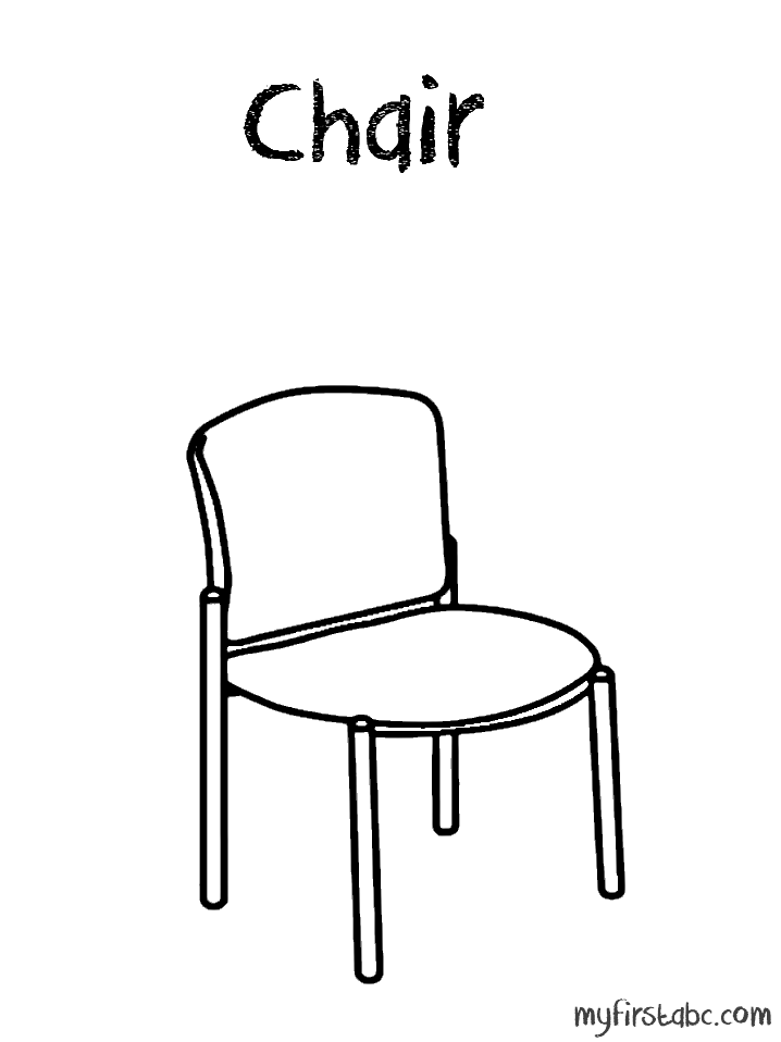 Chair coloring #11, Download drawings