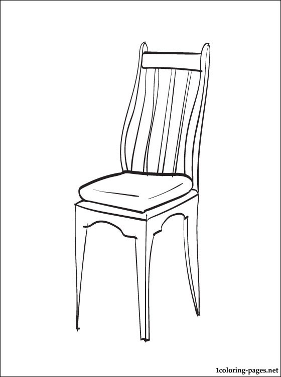 Chair coloring #6, Download drawings