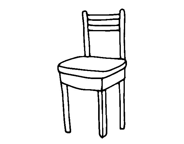 Chair coloring #7, Download drawings