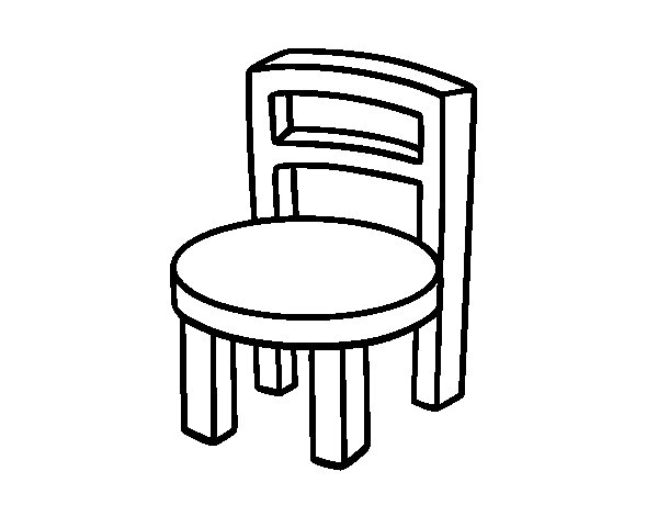 Chair coloring download chair coloring for Comedor para dibujar
