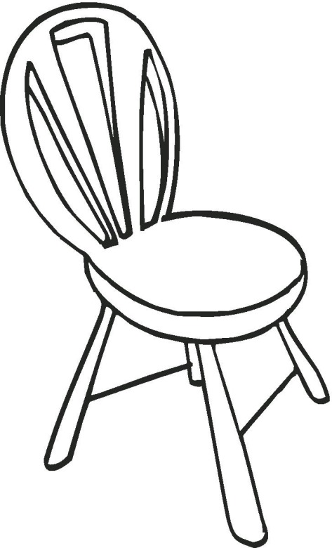 Chair coloring #3, Download drawings