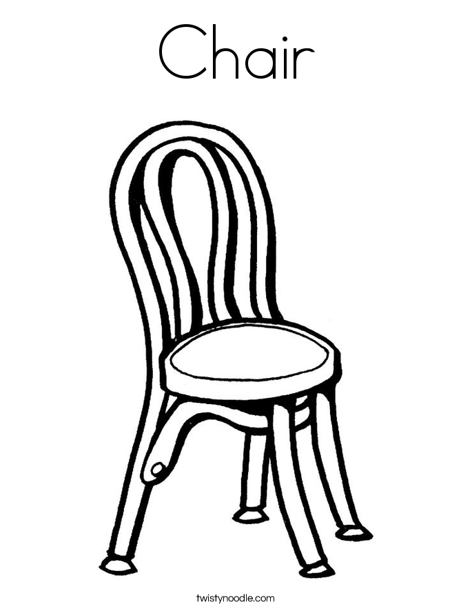 Chair coloring #18, Download drawings
