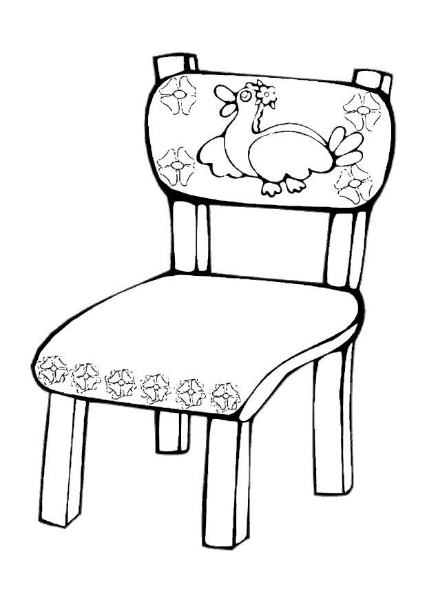 Chair coloring #10, Download drawings