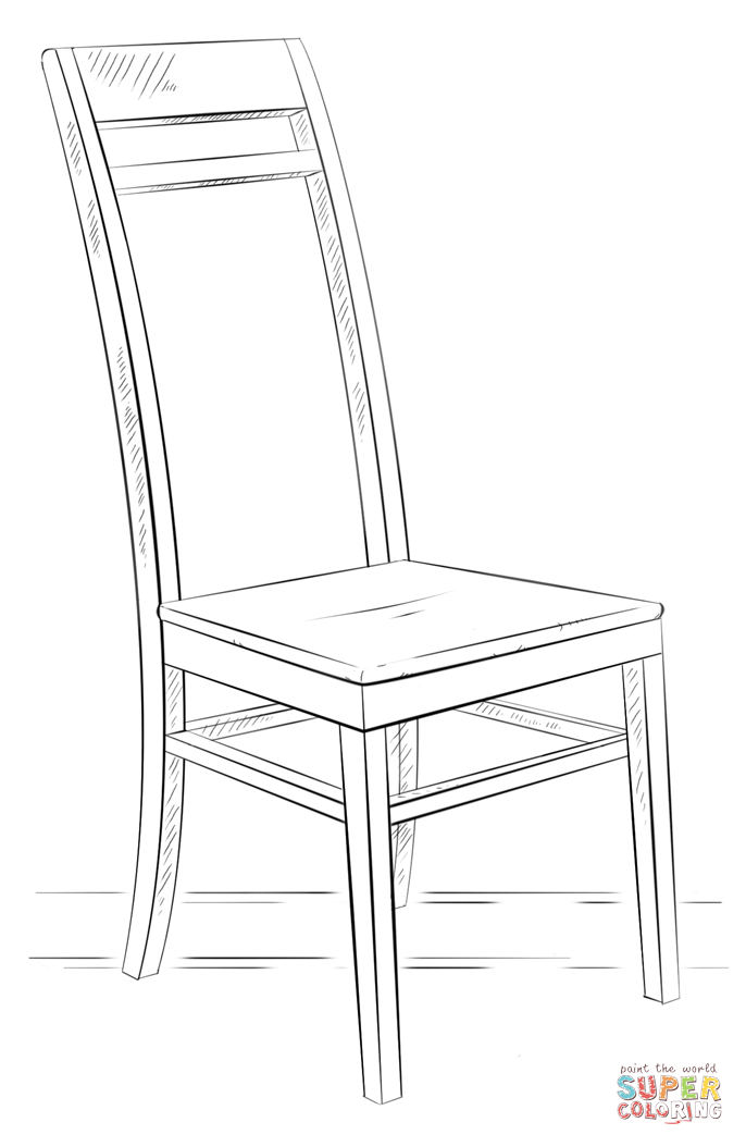 Chair coloring #12, Download drawings