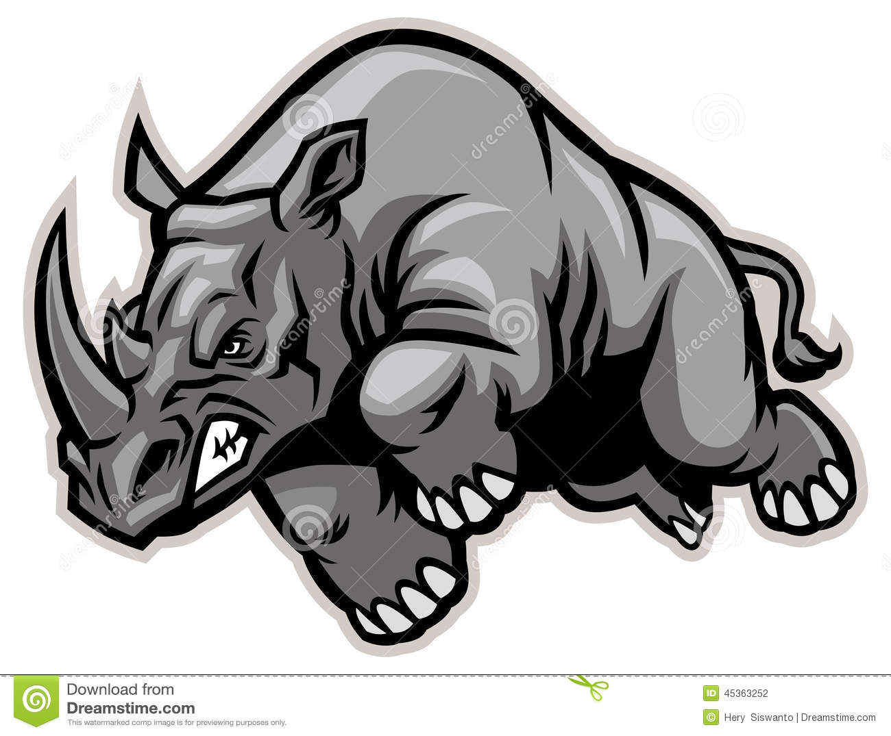 Charging Rhino clipart #20, Download drawings