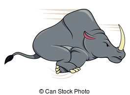 Charging Rhino clipart #18, Download drawings