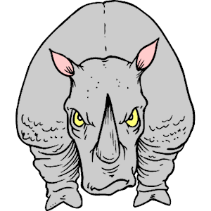 Charging Rhino clipart #13, Download drawings