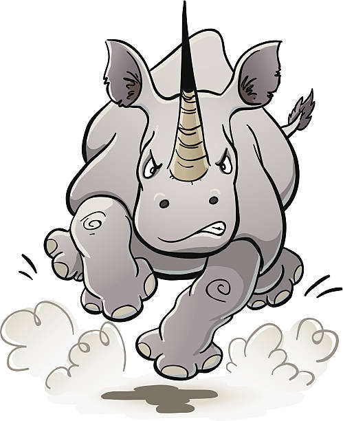 Charging Rhino clipart #5, Download drawings