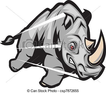 Charging Rhino clipart #1, Download drawings