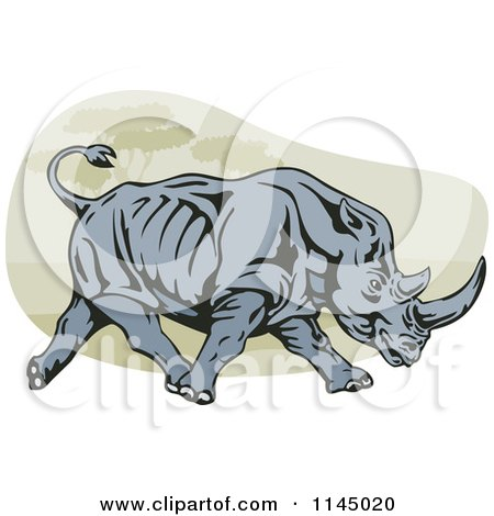 Charging Rhino clipart #3, Download drawings