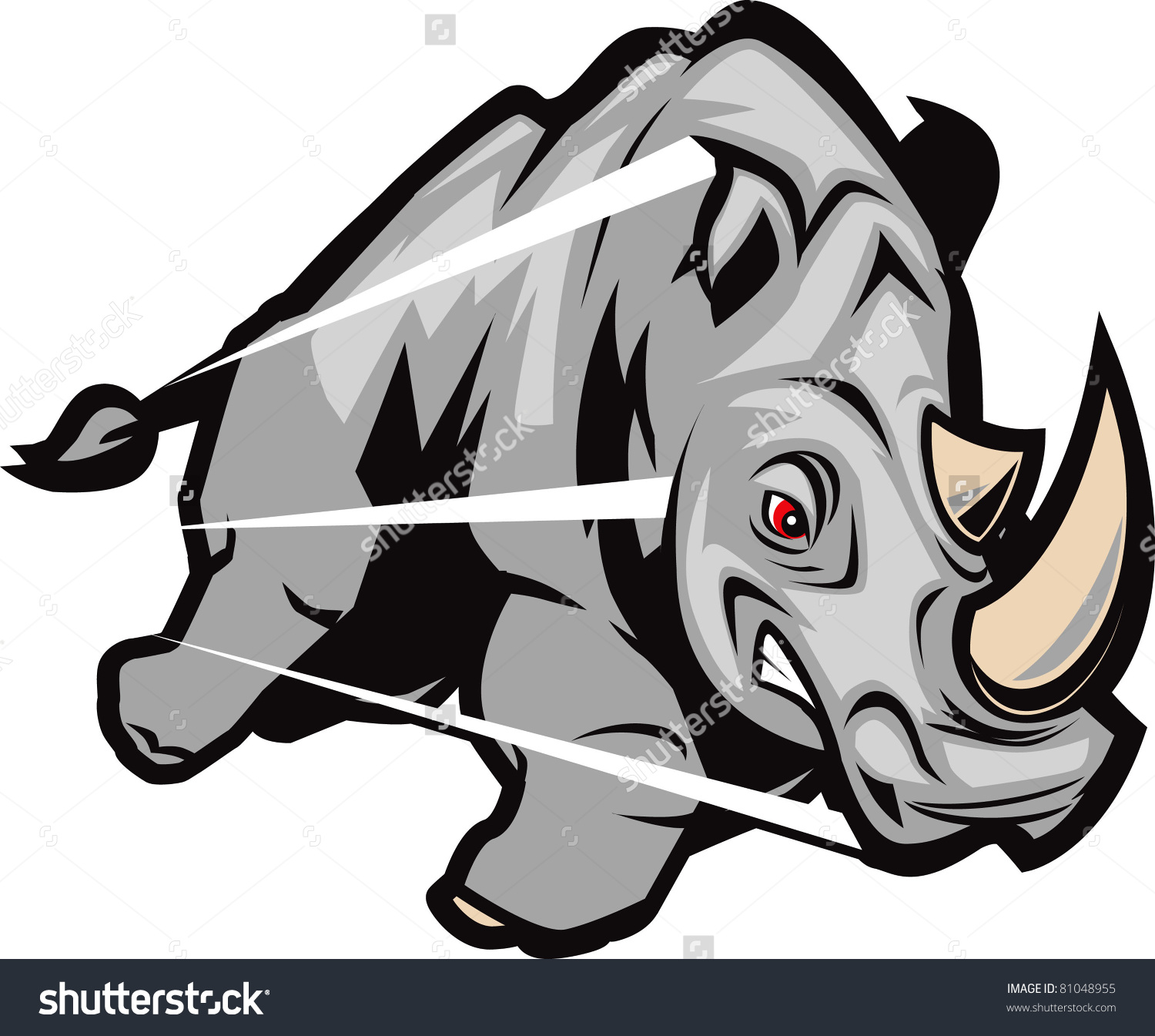 Charging Rhino clipart #6, Download drawings