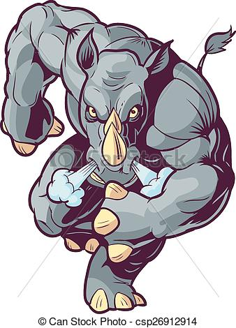 Charging Rhino clipart #19, Download drawings