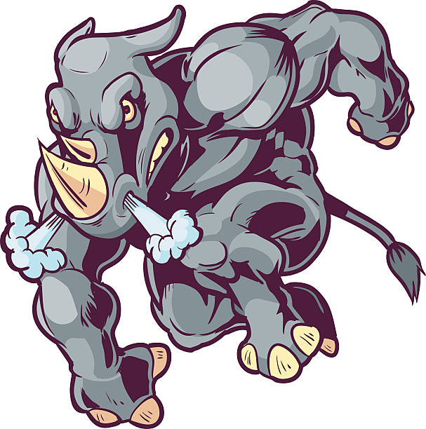 Charging Rhino clipart #16, Download drawings