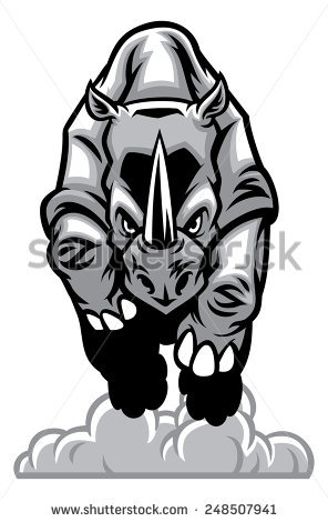 Charging Rhino clipart #11, Download drawings