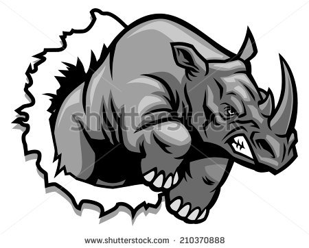 Charging Rhino clipart #12, Download drawings