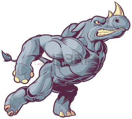 Charging Rhino clipart #8, Download drawings