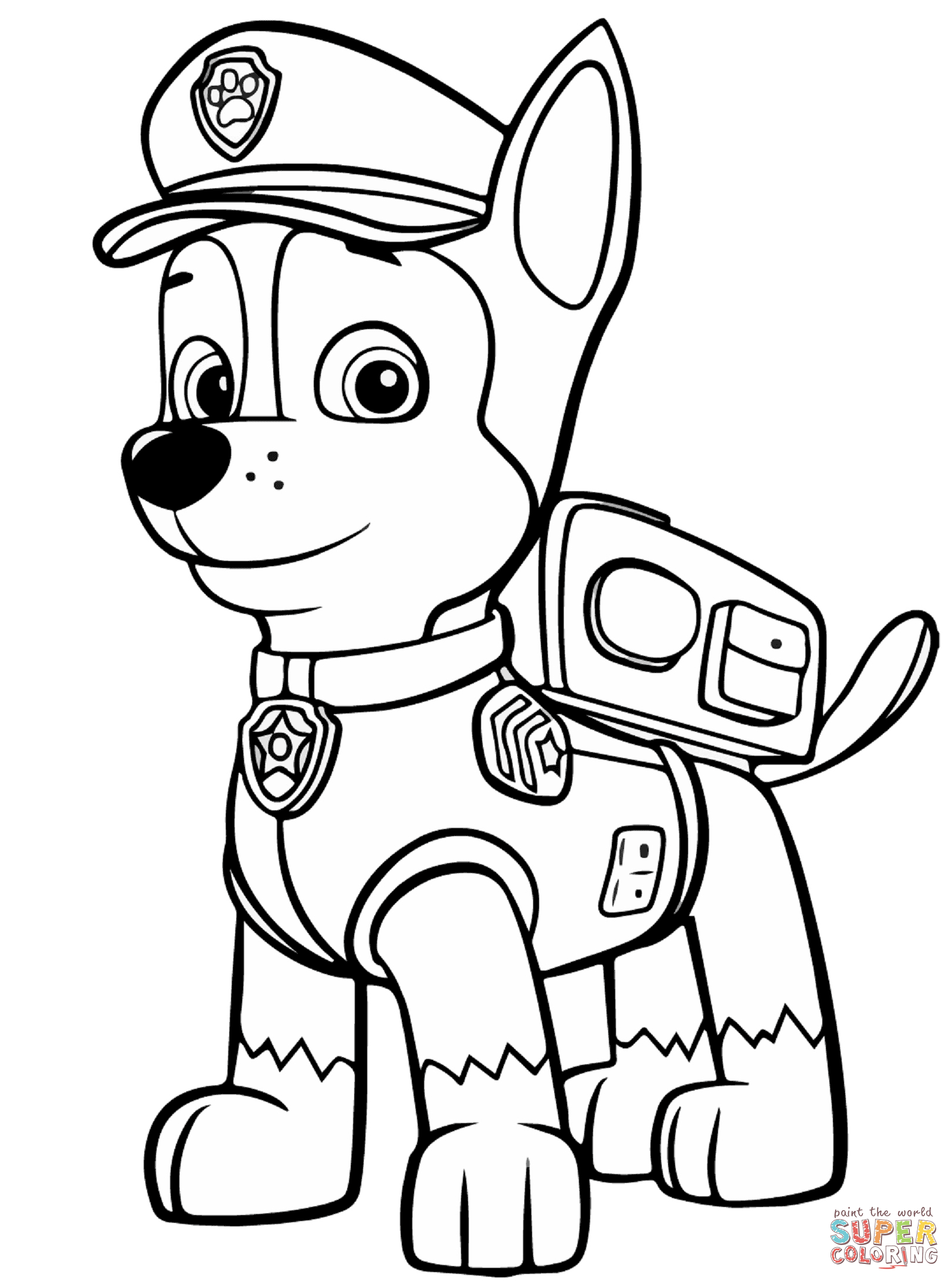 Chase coloring #12, Download drawings