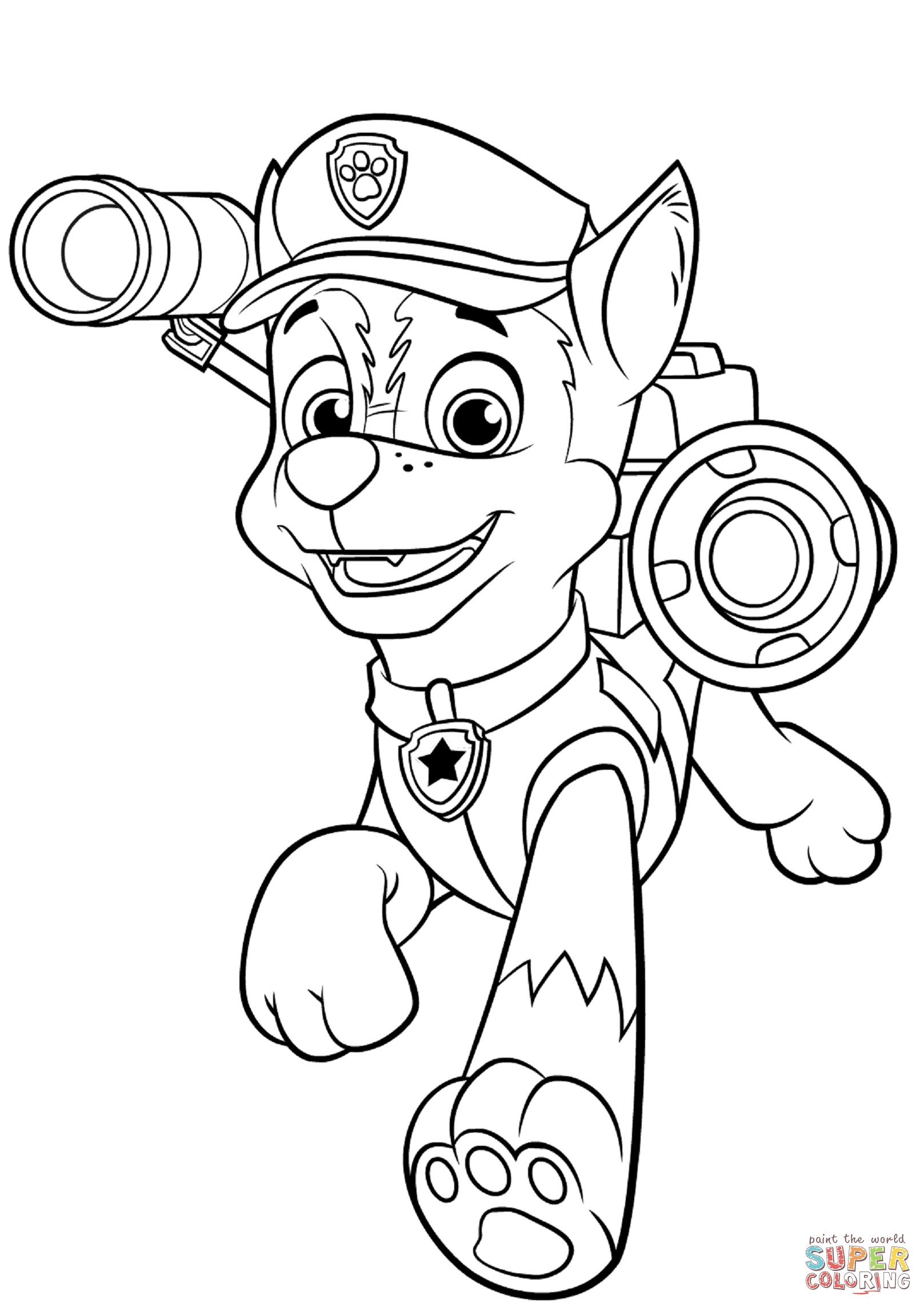 Chase coloring #9, Download drawings