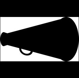 cheer megaphone svg #1024, Download drawings