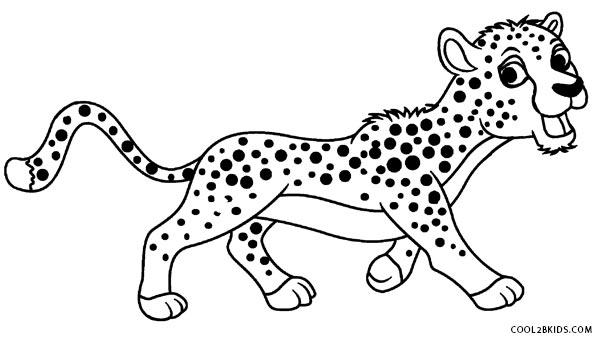 Cheetah coloring #5, Download drawings
