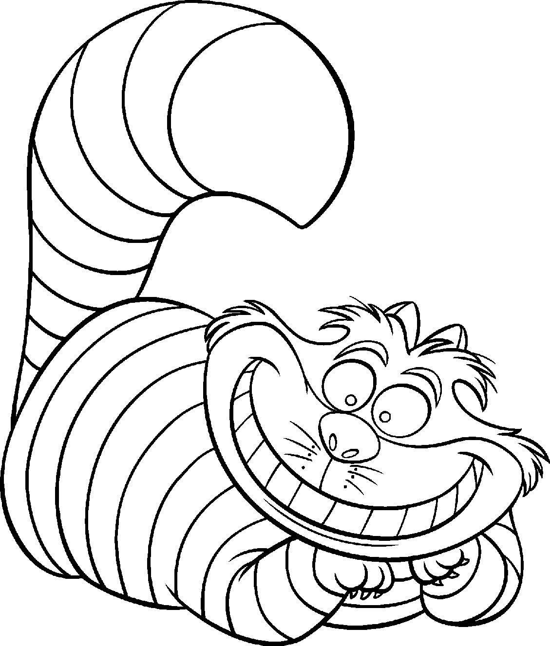 Cheshire Cat coloring #14, Download drawings