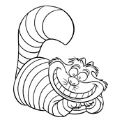 Cheshire Cat coloring #9, Download drawings