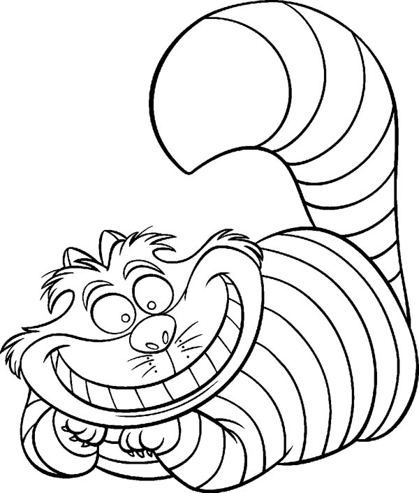 Cheshire Cat coloring #20, Download drawings