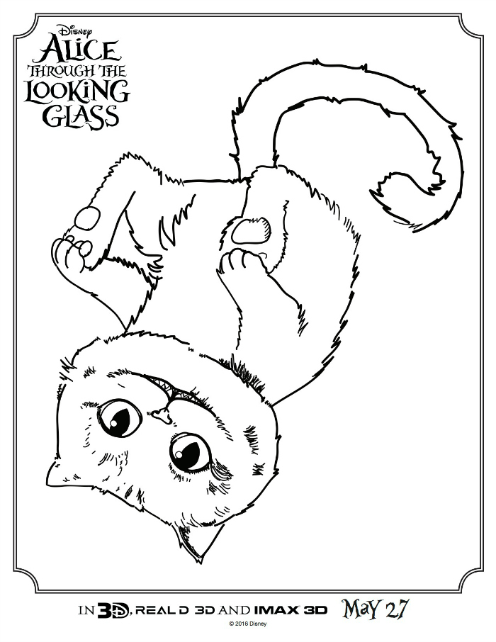 Cheshire Cat coloring #8, Download drawings