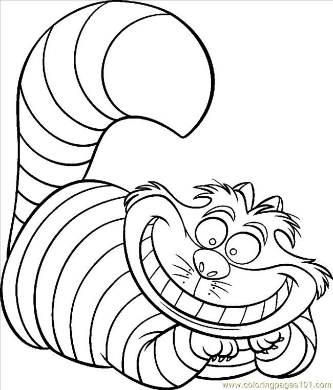 Cheshire Cat coloring #19, Download drawings