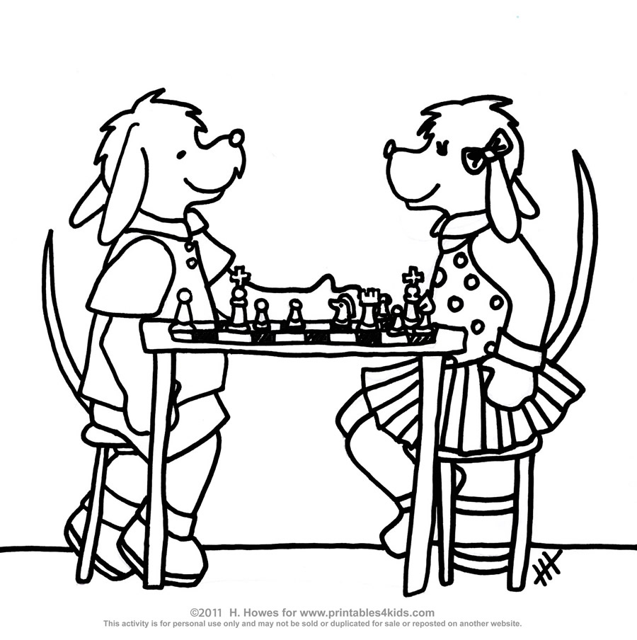 Chess coloring #20, Download drawings